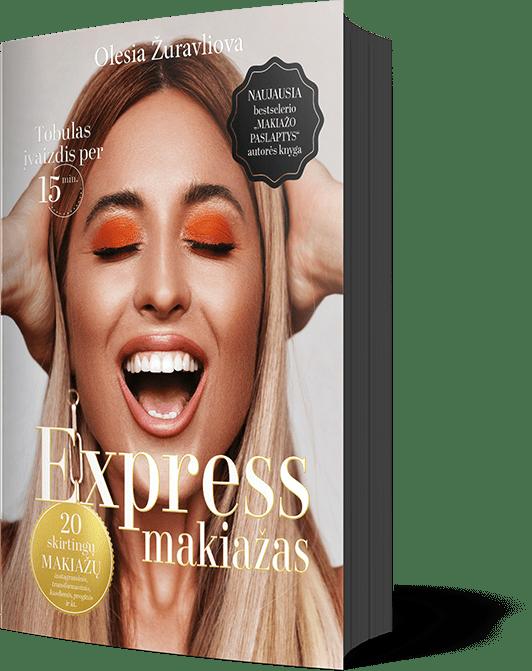 Express Makiažas, Nauja knyga, Makiažas per 15 min., Olesia Žuravliova, OŽ Design Home